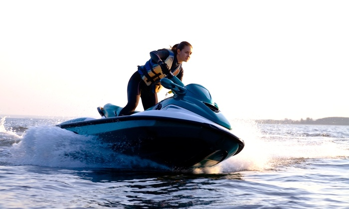 SD Water Sport Boat Rentals - Midway District: One-Hour Jet-Ski Rental or One- or Four-Hour Jet-Boat Rental at SD Water Sport Boat Rentals (53% Off)