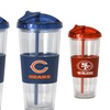 2-Pack of NFL No-Spill Straw Tumblers