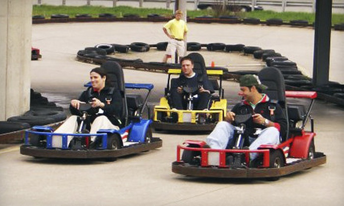 Swings-N-Things Family Fun Park - Olmsted Falls: $14 for One Day of Unlimited Go-Karts and Games at Swings-N-Things Family Fun Park in Olmsted Falls (Up to $28.99 Value)