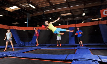$15 for a One-Hour Trampoline Session for Two at Sky Zone Indoor Trampoline Park ($30 Value)