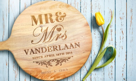 Acacia Wood Personalized Cutting Board in Choice of Size from AED 79 (Up to 70% Off)