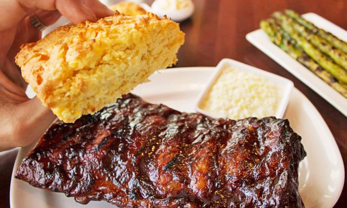Carson's Prime Steaks & Famous Barbecue - River North: $69 for a Dinner for Two with Slabs of Ribs, Salads, Dessert, and Cocktails at Carson's Ribs ($103.70 Value)