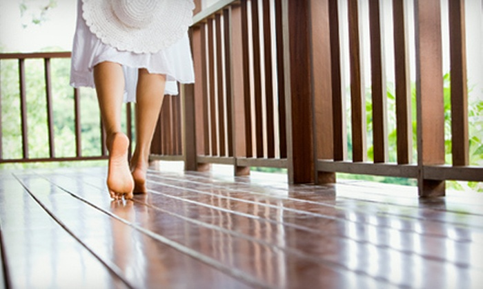 Luxury Window Cleaning - Far North Dallas,Bent Tree,Platinum Corridor: Deck Cleaning with Sealing or Staining on a Small, Medium, or Large Deck from Luxury Window Cleaning (Up to 70% Off)