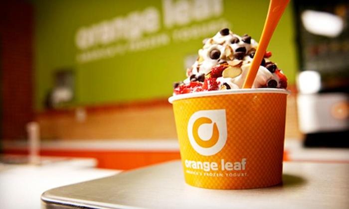 Orange Leaf Frozen Yogurt - Multiple Locations: $5 for $10 Worth of Frozen Yogurt at Orange Leaf Frozen Yogurt