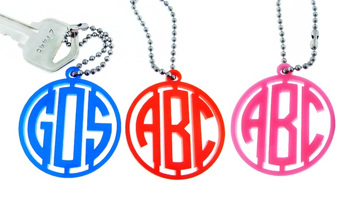 JC Jewelry Design: $5 for a Personalized Acrylic Monogram Key Chain from JC Jewelry Design ($19 Value)