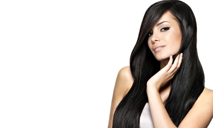 Tsubo Salon - West Town: Haircut with Partial or Full Highlights or One Brazilian Blowout at Tsubo Salon (Up to 75% Off)