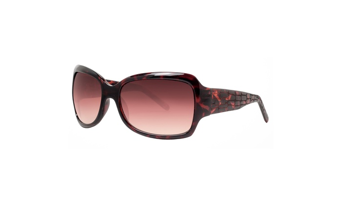 eee5dd9a41 Kenneth Cole Reaction Women s Havana Oversized Sunglasses