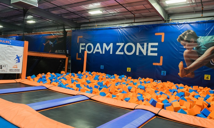 Sky Zone - Baton Rouge - Baton Rouge: Two Open Jump Passes or One Birthday Party Package for 10 at Sky Zone - Baton Rouge (Up to 47% Off)