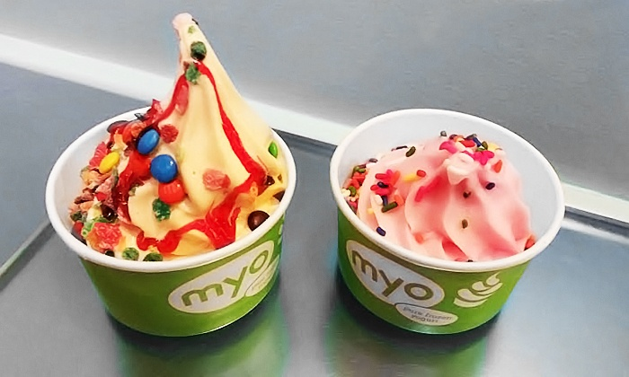 MYO Pure Frozen Yogurt - Multiple Locations: $13 for Two Groupons, Each Good for $10 Worth of Frozen Yogurt at MYO Pure Frozen Yogurt ($20 Value)