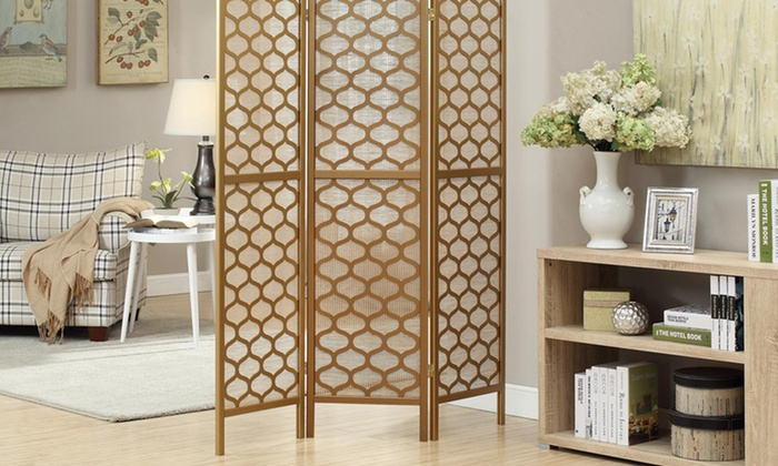 Monarch Three-Panel Folding Room Dividers: Monarch Three-Panel Folding Room Divider (Up to 58% Off). Multiple Styles. Free Shipping and Returns.