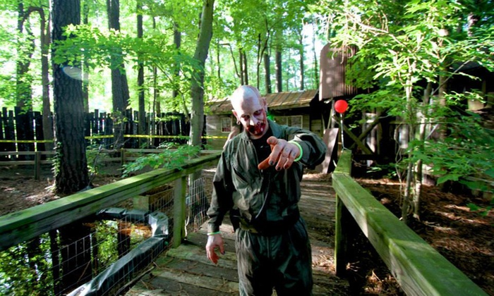 Hunt Club Farm - Virginia Beach: $29 for a Zombie Wars Package Admission for Two at Hunt Club Farm on Saturday, July 18 ($50 Value)