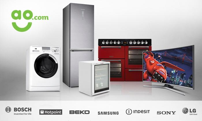 50 towards Kitchen Appliances and TVs - ao.com | Groupon