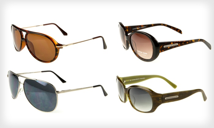 Andrew Marc Sunglasses: Andrew Marc Sunglasses (Up to 77% Off). 29 Options Available. Free Shipping and Free Returns.