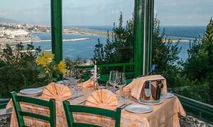 Ristorante La Vetta: Menu di pesce 4 portate e vino con vista panoramica al Ristorante La Vetta (sconto fino a 52%)