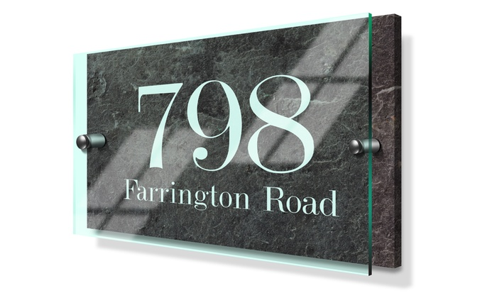 Fabness: Standard or Premium Acrylic Custom House Sign from Fabness (Up to 63% Off)