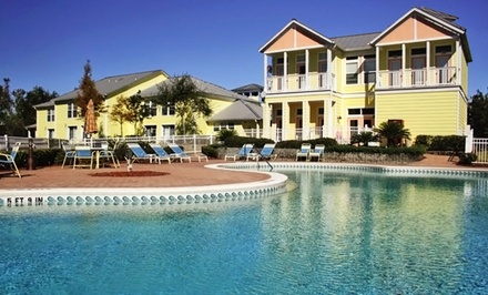 groupon daily deal - 2-Night Stay for Four in a One-Bedroom Queen Condo with Gator-Park Passes at Barefoot'n Resort in Kissimmee, FL