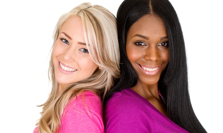 Haircut and Style or Flat-Iron Straightening Treatment at Xcetra Salon (Up to 52% Off)