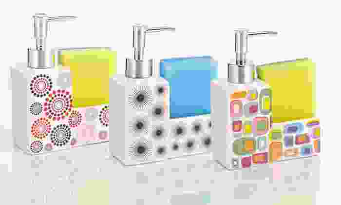 Ceramic Soap Dispenser and Sponge: $9 for a Ceramic Soap Dispenser and Sponge ($19.99 List Price). Multiple Styles Available. Free Returns.