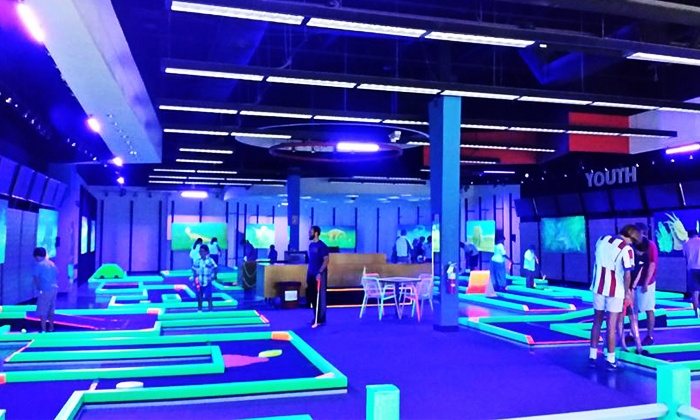 Lunar Mini Golf New - Lakeline Mall: Mini Golf for Two or Four at Lunar Mini Golf (Up to 50% Off)