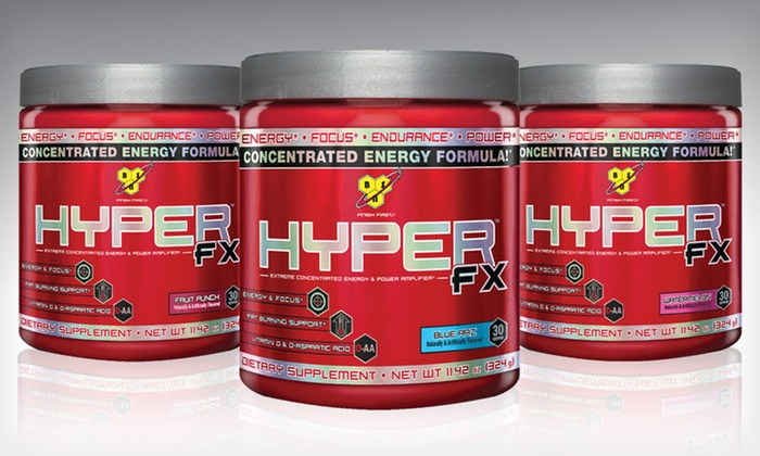 HyperFX Preworkout Supplement: $27.99 for 60 Servings of HyperFX Preworkout Supplement ($79.98 List Price). Three Flavors Available. Free Shipping.