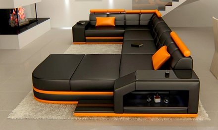 echt oder kunstledersofa venedig groupon goods. Black Bedroom Furniture Sets. Home Design Ideas