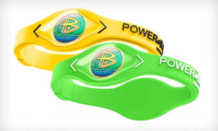 Power Balance Bracelet Band Wristband NEW LIGHT BLUE with WHITE Writing