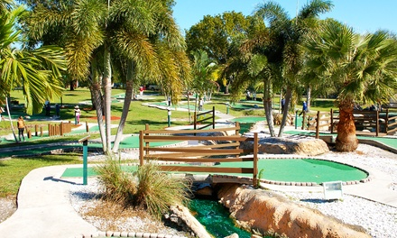 Round of Mini Golf with Driving-Range Balls and Ice Cream or Drinks for Two or Four at All Golf Center (Up to $ Off)