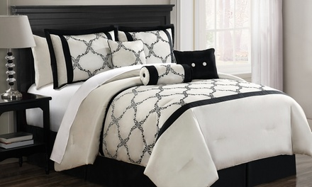 Gracie Embroidered Comforter Set (7-Piece)