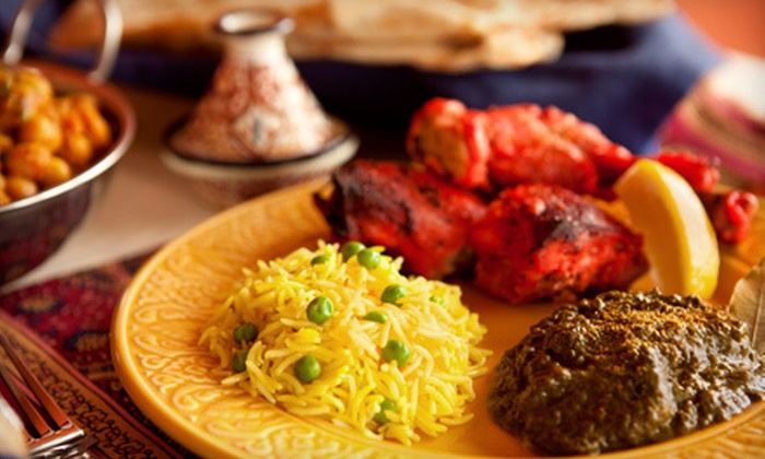 The Dancing Elephant Indian Restaurant and Lounge - Westbrook: Indian Dinner for Two or Four at The Dancing Elephant Indian Restaurant and Lounge in Westbrook (Up to 56% Off)