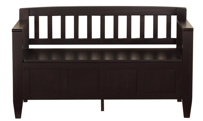 Terrific Brooklyn Entryway Storage Bench Groupon Gmtry Best Dining Table And Chair Ideas Images Gmtryco