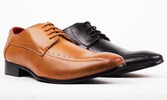 Royal Men's Square Toe Lace-Up Dress Shoes