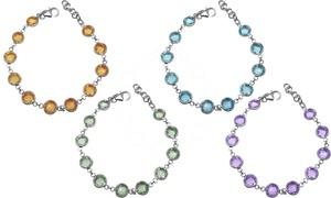 Perlaura Crystal Gemstone Bracelets In Sterling Silver
