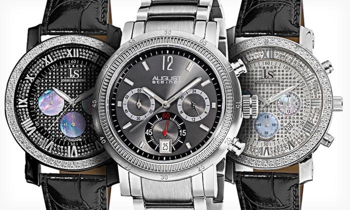 Men's Designer Watches: Akribos XXIV, August Steiner, and Joshua & Sons Designer Watches (Up to 88% Off). Multiple Styles.