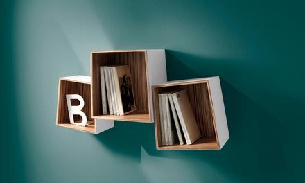Mensola da parete e set di 3 cubi disponibili in 2 modelli