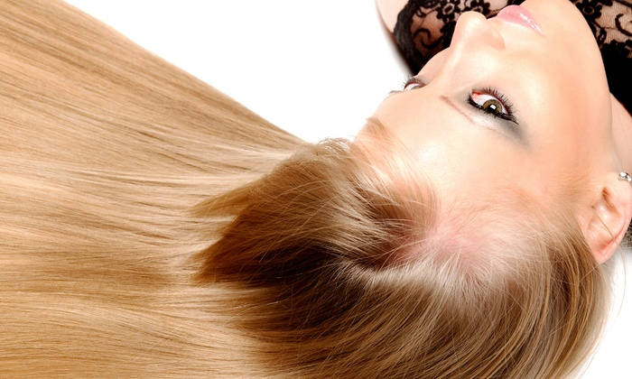 Eli Cartagena at Alan Scott Mae Salon - Crabtree Valley Mall: Brazilian Blowout or Haircut, Blow Dry, Style, and Toner from Eli Cartagena at Alan Scott Mae Salon (Up to 59% Off)
