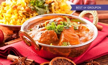 Menú para 2 o 4 con surtido de entremeses, principal, postre y bebida desde 29,95 € en Taj Palace Restaurante