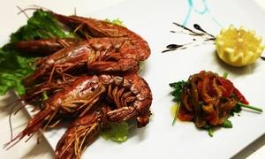 Mdn Restaurant: Menu di pesce con bottiglie di vino per 2 o 4 persone da Mdn Restaurant (sconto fino a 70%)