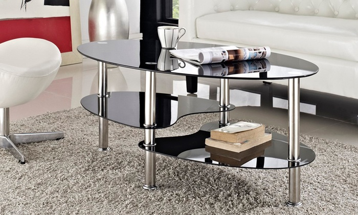 Glass And Chrome Coffee Table Groupon Goods