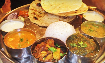 Vegetarian and Vegan Food and Drinks for Two or Four at Pooja Cuisine of India (Half Off)
