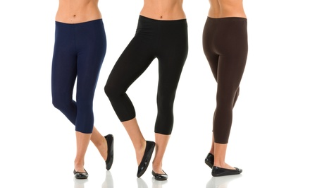Sociology 2-Pack of Capri Leggings | Groupon Exclusive