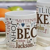 Personalized Word Art Mug (Up to 47% Off)