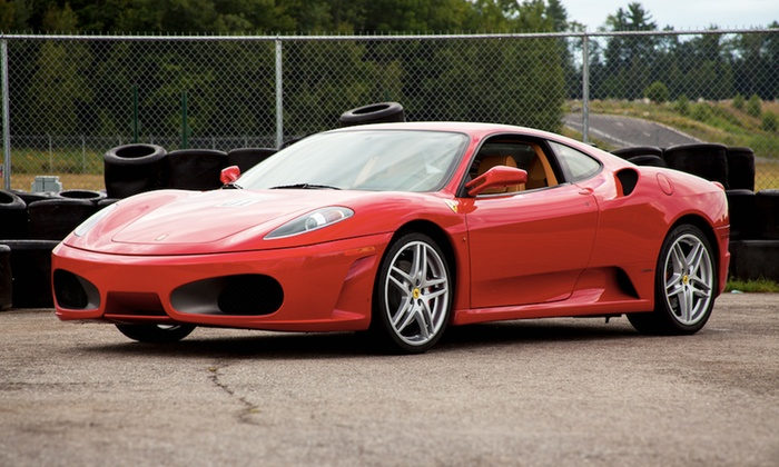 The Motorsport Lab - Gulf Greyhound Park: Ferrari or Lamborghini Driving Experience from The Motorsport Lab (Up to 84% Off). Four Options Available.