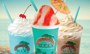 Bahama Buck's: Shaved-Ice Drinks or Party Pack for 25 at Bahama Buck's (Up to 46% Off)