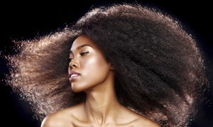 Clazzy Stylz & Nailz Studio: Relaxer or Haircut with Optional Partial or Full Highlights at Clazzy Stylz & Nailz Studio (Up to 53% Off)