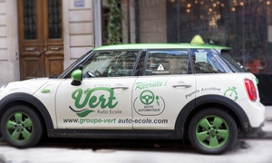 Groupe Vert auto école, 7e: Permis B pack entrée 20h initial à 669 € avec le Groupe Vert Auto-école