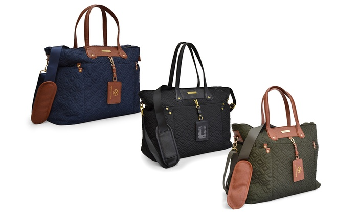 Adrienne Vittadini Travel Totes | Groupon Goods : quilted travel tote - Adamdwight.com