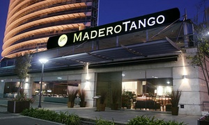 Madero Tango: Entrada + plato principal + postre + bebida y vino libre + clase de tango + show Vip para uno o dos en Madero Tango