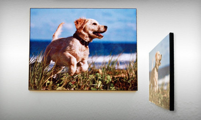 "Custom Wooden Photo Panel: picture-it-on-canvas$39 for an 11""x14"" Custom Wooden Photo Panel from Picture It On Canvas with Shipping Included ($128.95 Value)"