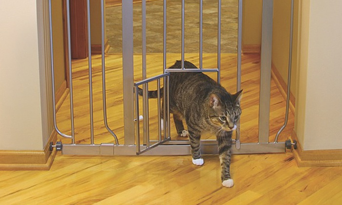 extrawide pet gate with small walkthrough door extrawide pet