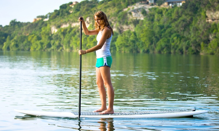 New Summit Fitness - Lake Grove: Stand-Up Paddleboard Lesson for Two, Four, or Six at New Summit Fitness (Up to 66% Off)